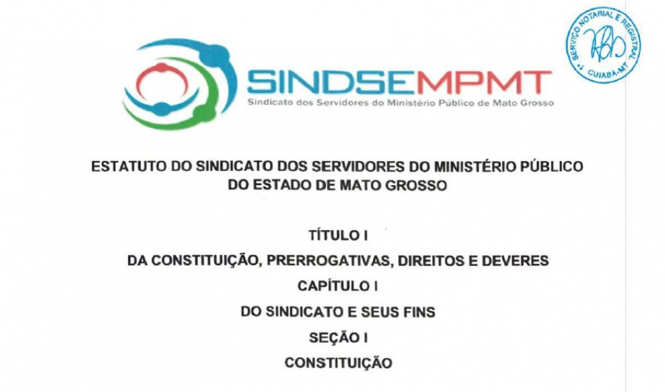 Estatuto do Sindicato Registrado